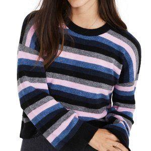 NWT Madewell Stripe Cardiff Crew Sweater